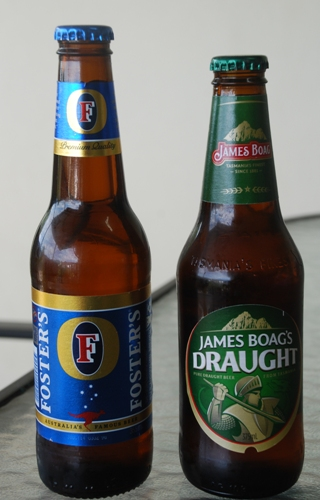 Birre australiane: Fosters e James Boag's Draught (Tasmania)