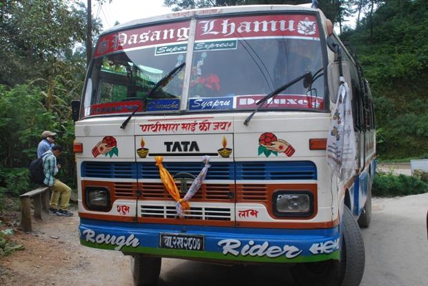 bus-kathmandu-dunche