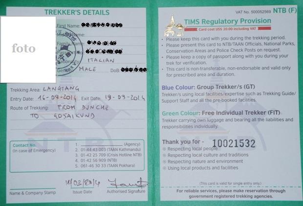 TIMS Trekking Permit