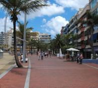 Il lungomare della spiaggia Las Canteras